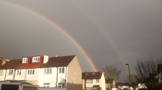 Double rainbow in Mitcham, 2016